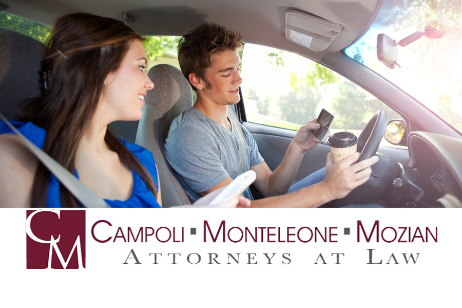 Distracted Driving: Put Down That Phone! on Campoli, Monteleone & Mozian, P.C. Attorneys, Personal Injury, Real Estate, Employment, Criminal Defense, Divorce and Family lawyers, Pittsfield, Great Barrington and North Adams